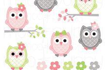 Owl Clipart / by Connie Elya