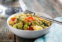 Grains & Pulses / rice, rice paper wraps, corn(maize/polenta), wheat(tabbouleh/couscous/semolina),quinoa, hummus, falafel, beans, soya beans, sprouts