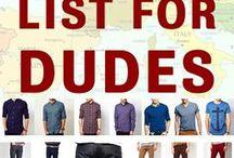 Men travel packing