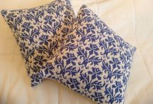 My knitted pillows / Ivory