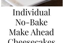 No Bake mini cheesecakes
