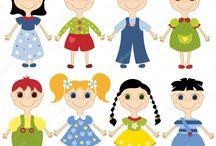 Obrázky postavičiek detí