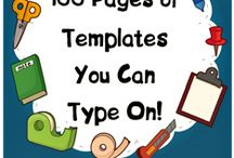 Templates, ideas and sheets