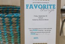 Favorite Things Party Ideas / by Michele McDaniel