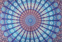 Mandala Tapestry -  Queen Size / See our beautiful  Mandala, Hippie and Bohemian tapestries @ http://www.fairdecor.com/-queen-mandala-tapestry-throw