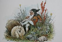 Vintage Illustrations of Fairies & Gnomes / Enjoy this collection of whimsical vintage images in the public domain.  These copyright-free antique images feature fairies, gnomes, and whimsical landscape.  Share them with your friends or turn them into sparkling new artworks!