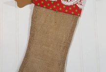 Christmas Burlap Stockings