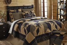 Dakota Star Quilted Bedding Collection / Dakota Star is new for Spring 2015 from VHC Brands Ashton & Willow Collection. It features a great black and khaki color scheme with a traditional 8 point star in the center surrounded by a feathered star quilted pattern. Shop for it now at Beth's Country Primitive Home Decor (http://www.bethscountryprimitivehomedecor.com).