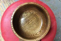 Lens turning / White oak bowl