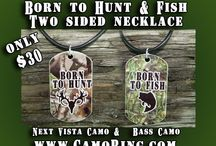 Camo Jewelry - Necklaces, Pendants and Earrings! / In 2013, we branched out into other jewelry besides our popular camo rings, we now carry a fully line of Necklaces, Pendants and Earrings in Camo!  Check us out at www.CamoRing.com