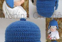 toucas em crochê  personagens para crianças