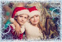 Dzieci mikołajkowo-świątecznie