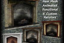 Sims 2 - Build - Fireplaces