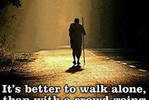 Be a leader or a loner