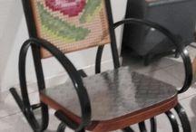 """rocking chair relooké """"nous❤"""""""