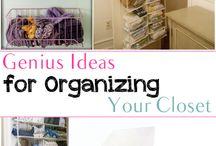 organising a closet