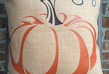Fall and Pumpkin Pillows
