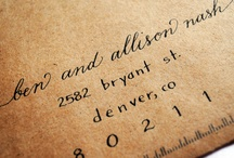 Fonts and Handwriting / by Ashlee Moore