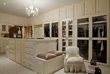 Luxury Dressing Rooms / Beautiful dressing rooms that take closets to the next level. Full service dressing rooms, shoe closet, handbag storage, hat and jewelry storage. Sitting area