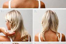 Haircuts , chignon, Evening bun, ponytail....