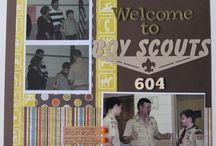 Boy Scouts Scrapbooking / Scrapbook layouts and products for Boy Scouts