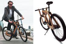 Bicicletas de madeira e trikes