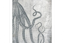 """Octopi and other various nautical oddities / I love the ocean. Srsly, you guys. If you asked 5 year old me what I wanted to be when I grew up I'd reply (very matter-of-factly) """"a marine biologist"""". That, and the octopus is my power animal. Just sayin'"""