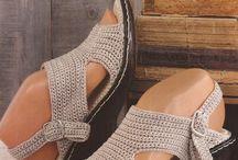 zapato crochet
