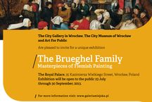The Brueghel Family - MASTERPIECES OF FLEMISH PAINTING  / The City of Wrocław hosts the largest exhibition in Poland of works from the artistic dynasty of Brueghels.  The Royal Palace, Wrocław, 22. 7. - 30. 9. 2013.  The exhibition of over 100 masterpieces (incl. over 80 paintings) presents the Brueghel oeuvre spanning over 200 years of creation by this famous artistic family. This exhibition is a part of an international initiative organized by The City Gallery in Wrocław and Art For Public association of Prague.