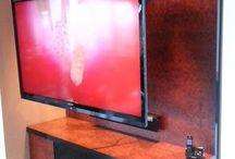 TV lifts / TV liften in verschillende vormen en toepassingen