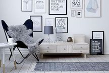 Scandinavian glam rock interior