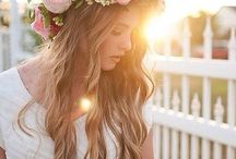 hair and flowers