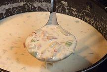 food: (clam ) chowder/ soep