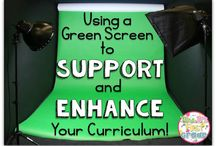 Green screen & video recording / This workshop explores the app Green Screen by Do Ink. This app costs $4.49 but it is well worth the cost as it is a very easy app for students and you the teacher to use.