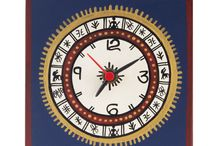 Square Warli Painted Blue Table Clock ( 5 Inch ) Be the first