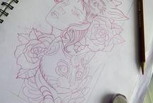 DIBUJOS Y DISEÑOS / Diseños de tatuajes personalizados, únicos e irrepetibles para cada cliente.