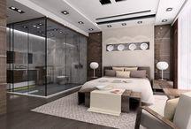 Спальня с душем