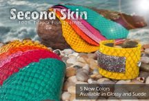 Metal Complex - Second Skin Fish Leather / These are projects and samples featuring 100% tilapia fish leather.