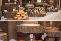 Wedding food display