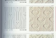 Knitting charts / Charts for patterns use in developing patterns