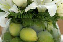 Aranžované kvety vazy