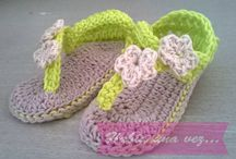 Zapatitos crochet verano
