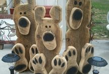 Holz deko