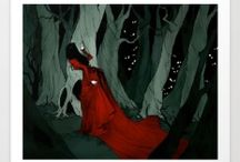 dark beauty art and illustratiins