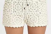 shorts al crochet