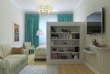 Спальня + гостиная