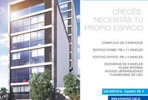 Patagonia Home & Office / Crecés, necesitás tu propio espacio. Desarrollado por ASPA, PATAGONIA HOME & OFFICE es un nuevo concepto con dos edificios en pleno centro de Cipolletti (Pcia de Río Negro). Un espacio flexible para vivir o trabajar. 1 Edificio HOME (PB + 11 Niveles) y un Edificio OFFICE (PB + 5 Niveles)