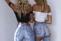High waist jeans outfit