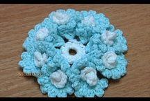 Crochê flores/folhas