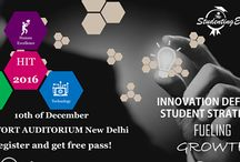 """HIT - A Studenting Strategy Conclave 2016 / The conclave, which is named """"HIT – A Studenting Strategy"""" will be organized on 10th Dec'16 at the Siri Fort Auditorium (Hall No II) from 10 am onwards. The Conclave will be attended by students from all branches and will cover topics like Accelerating Innovation & Technical Development, student transformation, importance of personal branding, Skills & Competency building as well as technology trends such as Artificial Intelligence, Augmented Reality."""